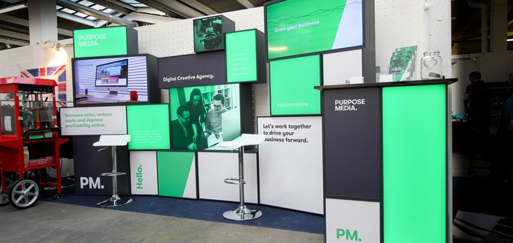 Exhibition Stand Modular : On teams up with purpose media to produce modular exhibition stand