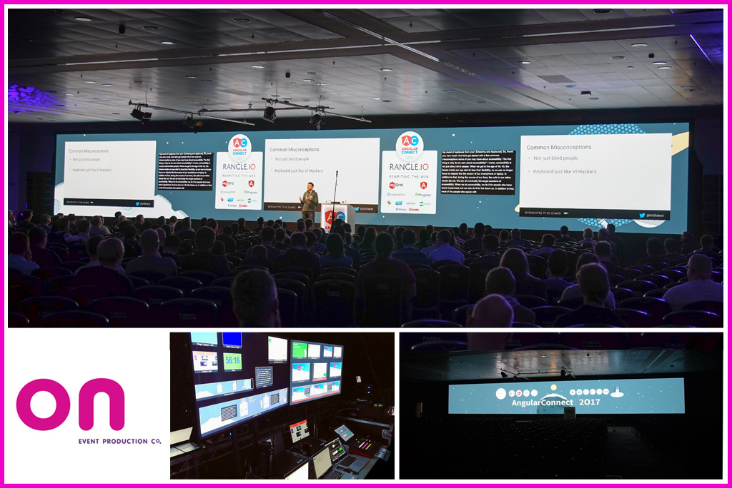 LED Wall 22m wide - Striking Set for Angular Connect 2017 - On Event Production Co.