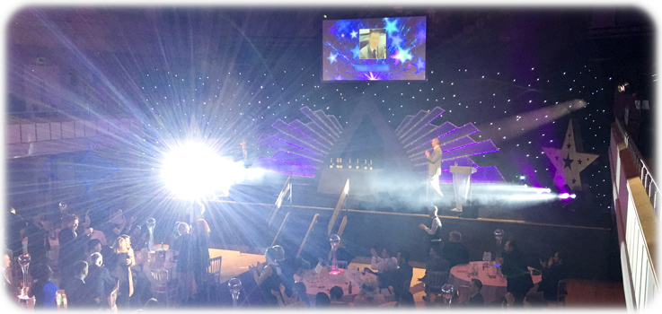 On Event Production Co. - Bespoke Stage Set for Awards Night - Creative Technical Production