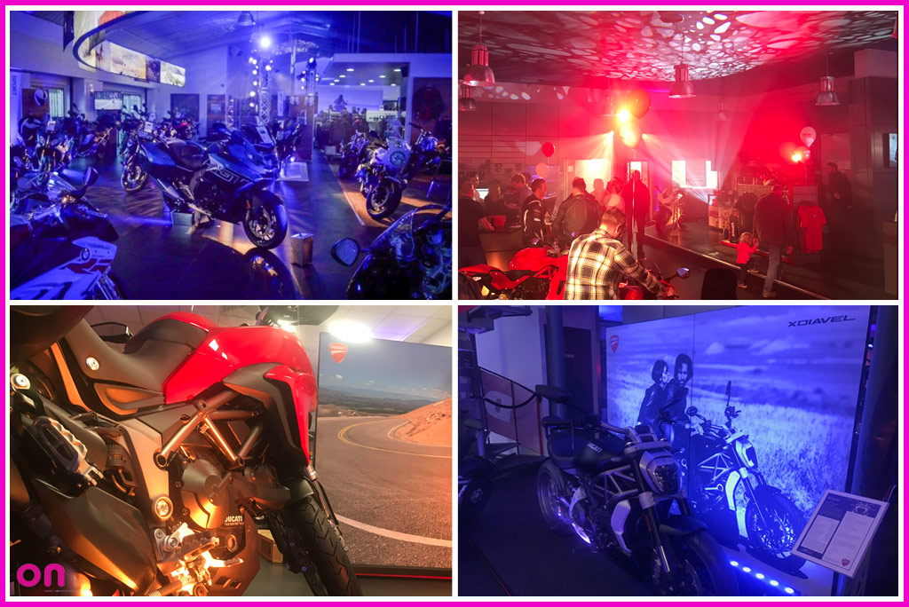 Creative technical production for Pidcock Motorcycles high profile in-store launch events 2017 - On Event Production Co.