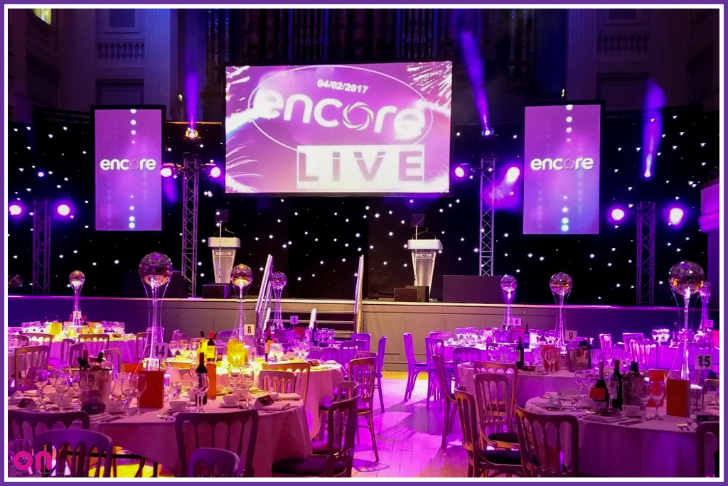 Awards Ceremony Technical Production - Lightning speed installation - On Event Production Co.
