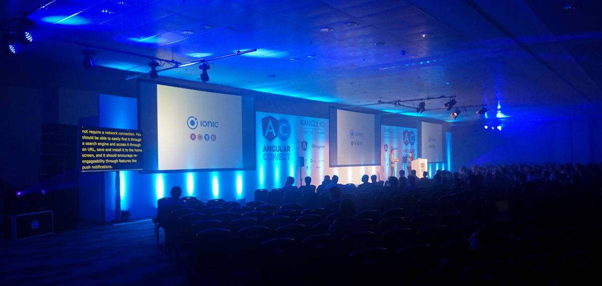 AngularConnect 2016 European Conference - Technical Production by On Event Production Co.