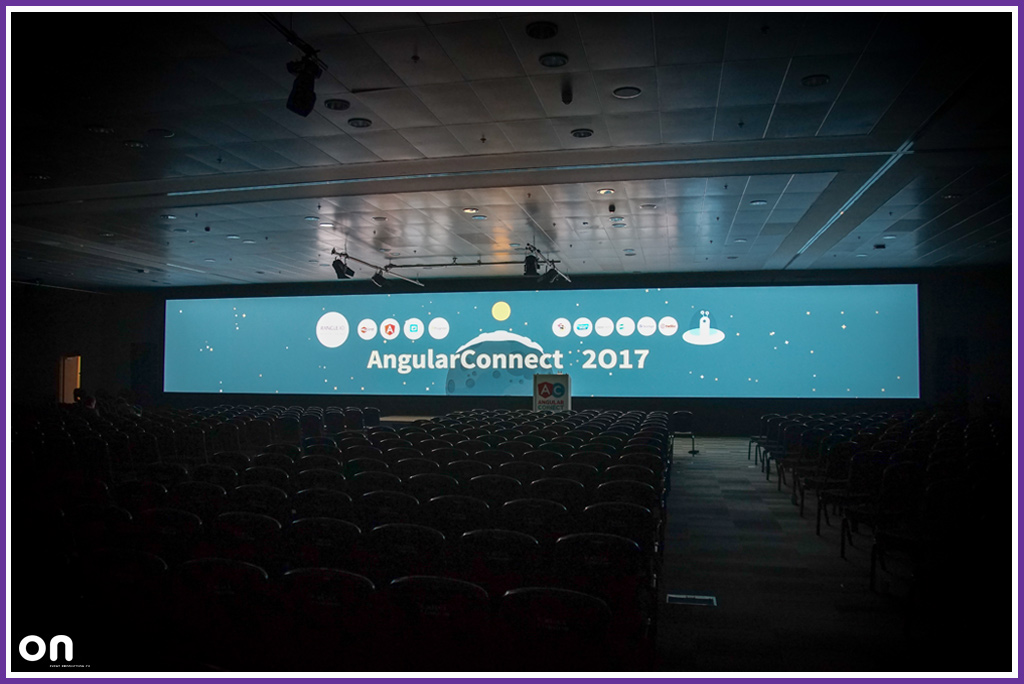 Giant LED Wall - Conference Production - Angular Connect 2017 - On Event Production Co.