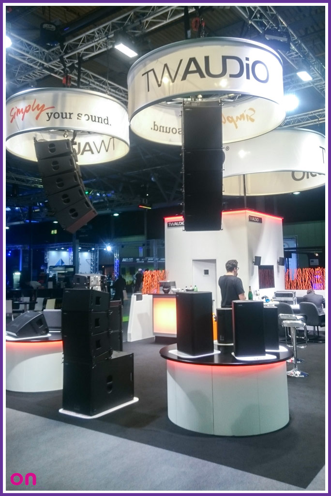 Bespoke exhibition stand creation for TW AUDiO - On Event Production Co.