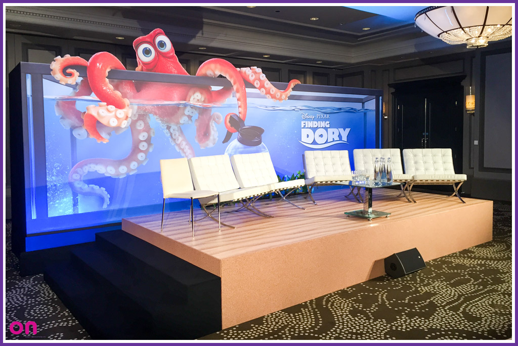 Disney Pixar Finding Dory Set and Scenery with 3D elements - On Event Production Co.
