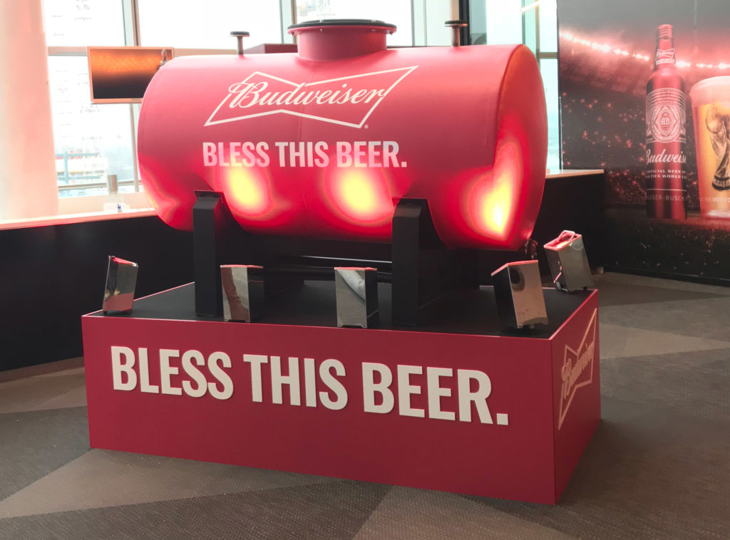 On Event Production Helps Budweiser Bless this Beer at 2018 World Cup