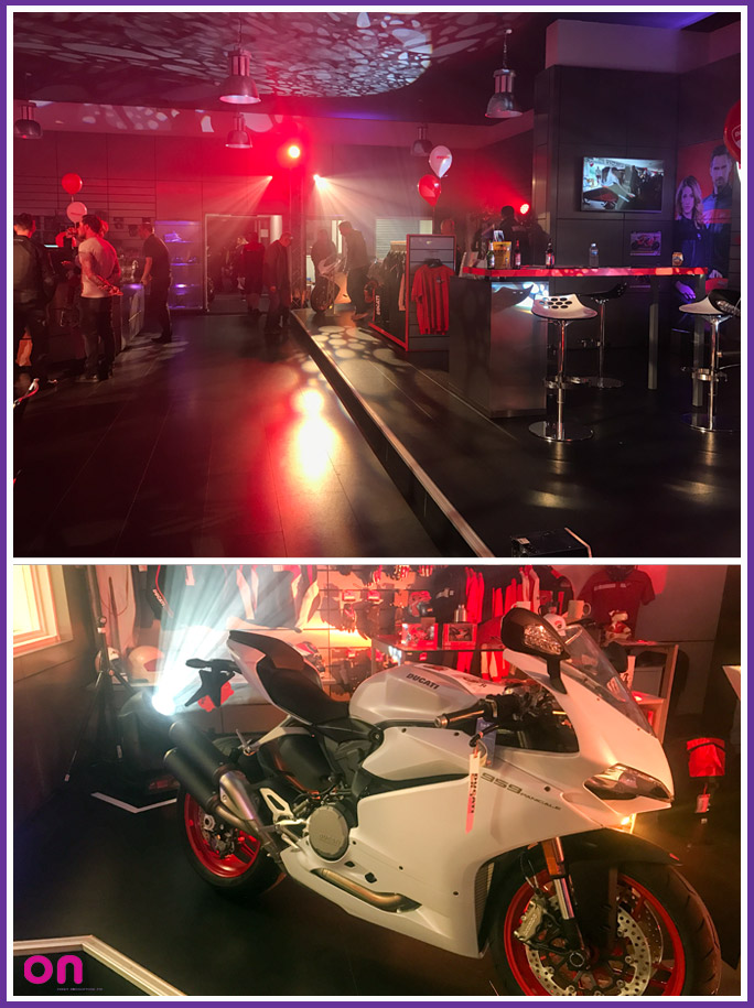 Creative technical production for Pidcock Motorcycles high profile in-store brand launch events 2017 - On Event Production Co.