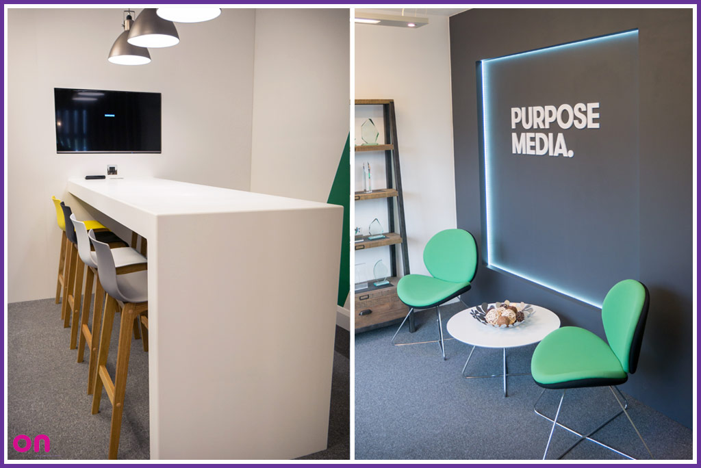 Office fit-out for Purpose Media's office extension - On Event Production Co.
