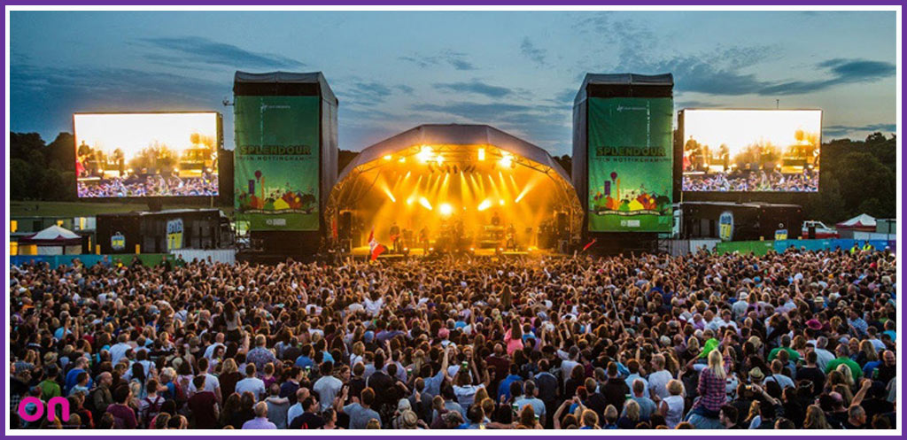 Last year's main stage lighting at Splendour Festival Nottingham - On Event Production Co. - Lighting Production Specialists