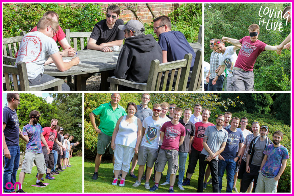 Team building at staff away day for creative event production company On Event Production Co.