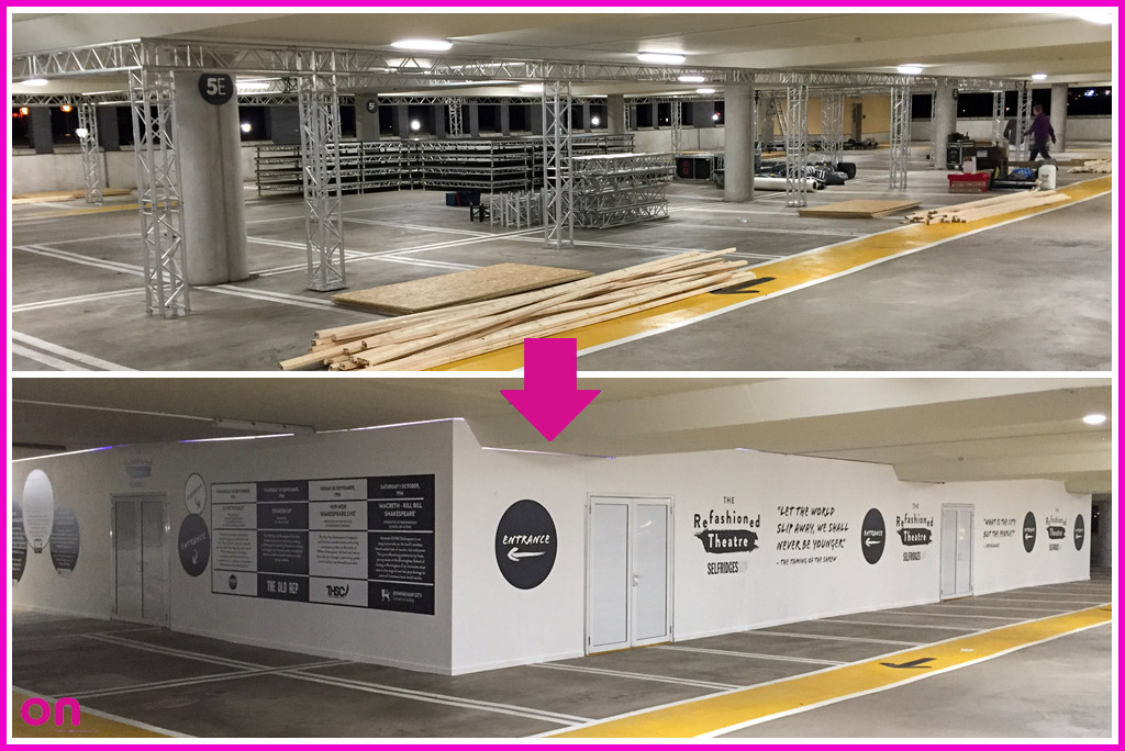 Pop-Up Theatre Fabrication for Selfridges Birmingham - Before & After - On Event Production Co.