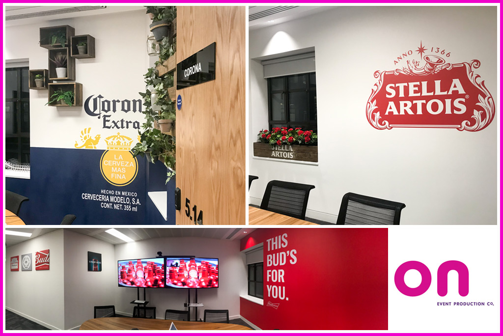Themed Meeting Rooms fit-out - AB InBev offices - On Event Production Co.